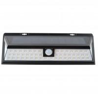 Aplica solara LED Hoff, 5W, 360lm, lumina rece, cu senzor de miscare, 3 moduri de iluminare