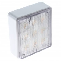 Lampa de veghe LED Hoff, 0.5W, dimabila, control temperatura culoare, telecomanda, alimentare baterii