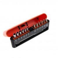Set surubelnita precizie si 18 accesorii insurubare, Holzer 8082119