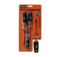 Set 4 surubelnite, Holzer 577104, cu varf magnetic