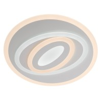 Plafoniera LED Stratos RD 01-1930, 88W, 5941lm, lumina calda / rece, alb mat
