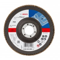 Disc lamelar frontal, pentru metal, Bosch Standard for Metal 2608603658, 125 x 22.23 mm, granulatie 80