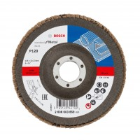 Disc lamelar frontal, pentru metal, Bosch Standard for Metal 2608603659, 125 x 22.23 mm, granulatie 120