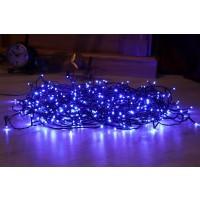 Instalatie brad Craciun, Hoff, 400 LED-uri albastre, 39.9 m, controler