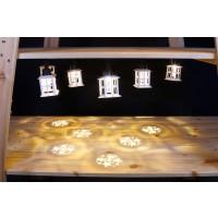 Instalatie felinar Craciun cu proiectie stea, Hoff, 6 LED-uri cu lumina calda continua, 2.5 m, IP44