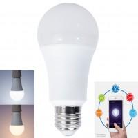 Bec inteligent LED PNI SM9W, wi-fi, clasic E27 9W 800lm lumina calda / rece, dimabil