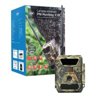 Camera pentru vanatoare PNI Hunting 350C, 12MP, Full HD, 58 LED-uri invizibile, exterior / interior, IP54, camuflaj
