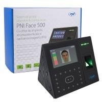 Sistem de pontaj biometric PNI FACE 500, acces cu amprenta, recunoastere faciala si card electromagnetic