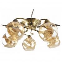 Lustra Crinkle LY-3438, 5 x E27, bronz + bej
