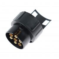 Adaptor priza pentru remorca auto, plastic, negru, 7/13 pini