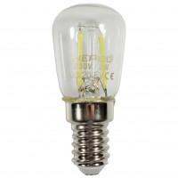 Bec LED filament Hepol tubular E14 2W 200lm lumina rece 6500 K, pentru frigider