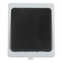 Intrerupator cap scara Hoff Cubik, aparent, 10A, IP54, gri + negru