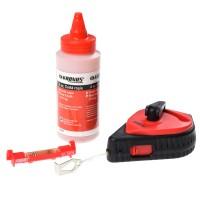Kit pentru masuratori, trasator 30 m + creta rosie + mininivela, 75 mm