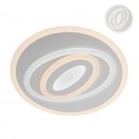 Plafoniera LED Stratos RD 01-2335, 67W, 6048lm, lumina calda / rece, telecomanda, dimabila, acril satinat + alb mat