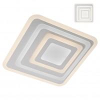Plafoniera LED Stratos SQ 01-2337, 85W, 7513lm, lumina calda / rece, telecomanda, dimabila, acril satinat + alb mat
