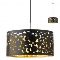 Suspensie Melia 01-2140, 1 x E27, crom + negru - auriu
