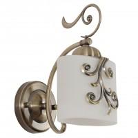 Aplica Fantasy KL101015, 1 x E27, bronz + alb opal