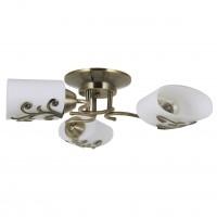 Lustra Fantasy KL103005, 3 x E27, bronz + alb opal