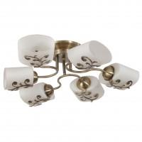 Lustra Fantasy KL106009, 6 x E27, bronz + alb opal