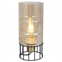 Veioza Ideal KL108015, 1 x E27, negru / bronz + fumuriu