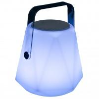 Veioza LED RGB Ritual KL120002, 3W, 60lm, lumina rece / colorata, cu boxa, conexiune Bluetooth