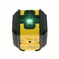Nivela cu laser, cu linii verzi, in cruce, cu autonivelare, Stanley Cubit, STHT77499 + stativ