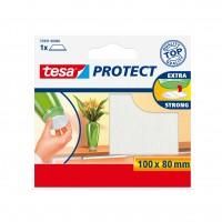 Protectie antizgarieturi, pentru mobila si pardoseli, din pasla, Tesa, alba, 100 x 80 mm