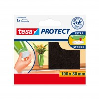 Protectie antizgarieturi, pentru mobila si pardoseli, din pasla, Tesa, neagra, 100 x 80 mm