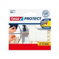 Protectie / Atenuator zgomot, pentru mobila, forma rotunda, Tesa, 28 mm, set 28 buline