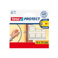 Protectie / Atenuator zgomot, pentru mobila, forma patrata, Tesa, 10 x 10 mm, set 8 patratele