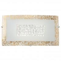 Aplica LED Ra 05-895, 10W, 756lm, lumina neutra, cristale, alb + auriu