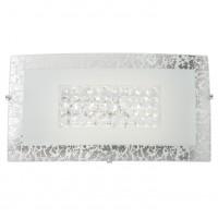 Aplica LED Ra 05-896, 10W, 756lm, lumina neutra, cristale, alb + argintiu