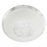 Plafoniera LED Ra 05-898, 12W, 980lm, lumina neutra, cristale, alb + argintiu