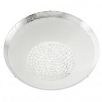 Plafoniera LED Ra 05-900, 18W, 1400lm, lumina neutra, cristale, alb + argintiu
