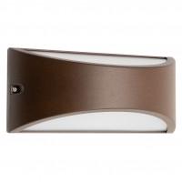 Aplica LED Scudo 90192, 10W, lumina calda, IP54, maro inchis + alb