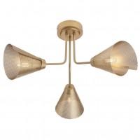 Plafoniera Indua 01-2193, 3 x E27, metal traforat, aur mat