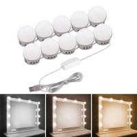 Instalatie 10 LED-uri glob Hoff, 10W, 650lm, lumina calda - rece, dimabila, conexiune USB