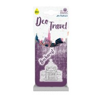 Odorizant auto, Deo Travel Bucharest, carton parfumat, 9 x 6 cm