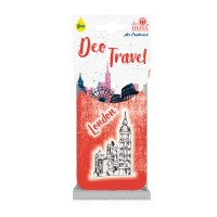 Odorizant auto, Deo Travel London, carton parfumat, 9 x 6 cm