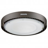 Corp iluminat LED rotund Philips Ledinaire BY021P, 190W, 20000lm, aluminiu, D 34.4 cm, IP65, lumina neutra
