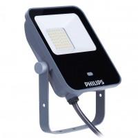 Proiector LED simetric cu senzor de miscare Philips Ledinaire BVP154, 20W, 2100lm, lumina neutra, IP65, gri