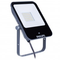 Proiector LED simetric cu senzor de miscare Philips Ledinaire BVP154, 50W, 5000lm, lumina neutra, IP65, gri