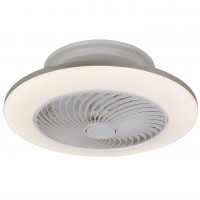 Plafoniera LED Dalfon 6710, cu ventilator, 36W, 2100 lm, CCT lumina calda / rece, alba
