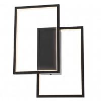 Plafoniera LED Plana 01-2306, 30W, 1950lm, lumina calda, dimabila, negru mat