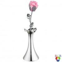 Veioza LED RGB Jimmy 28112, 0.06W, vaza cu floare, alimentare baterii