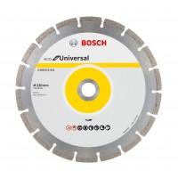 Disc diamantat, cu segmente, pentru debitare beton / granit / zidarie, Bosch ECO Universal,  230 x 22.23 x 2.6 mm