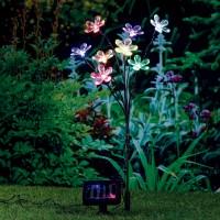Lampa solara 8 LED-uri multicolore Hoff, buchet, H 60 cm