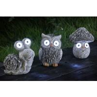 Lampa solara 2 LED-uri alb rece Hoff, figurine gri, diverse modele