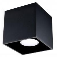 Plafoniera Quad SL.0022, 1 x GU10, neagra