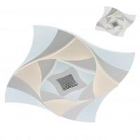 Plafoniera LED Stratos 01-2341, 62W, 6010lm, lumina calda / neutra / rece, telecomanda, dimabila, alb mat + satin + transparent